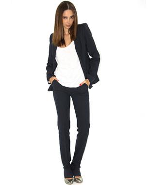 pantalon femme droit chic