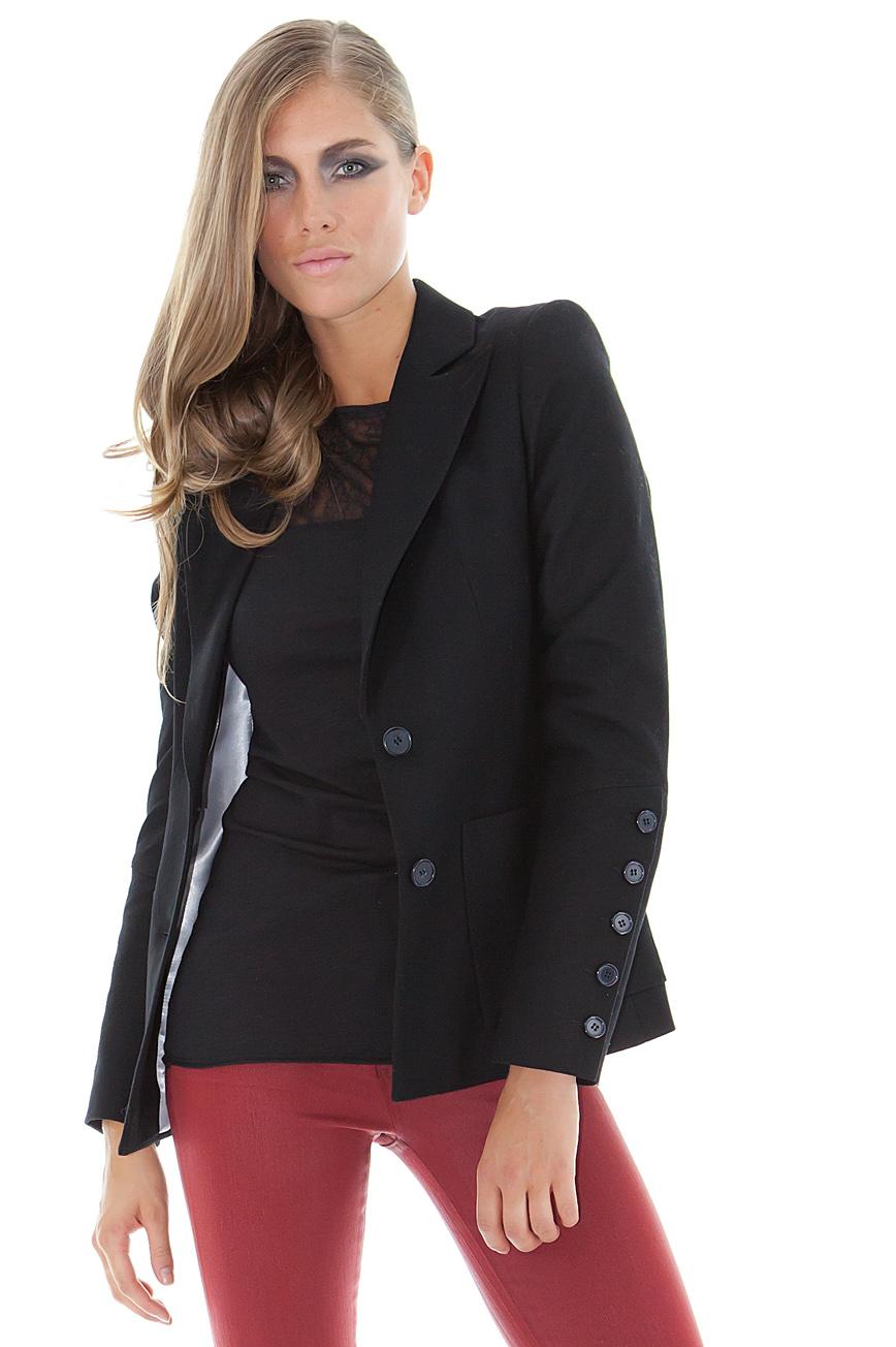 veste cachemire veste femme noire stefanie stefanie renoma. Black Bedroom Furniture Sets. Home Design Ideas