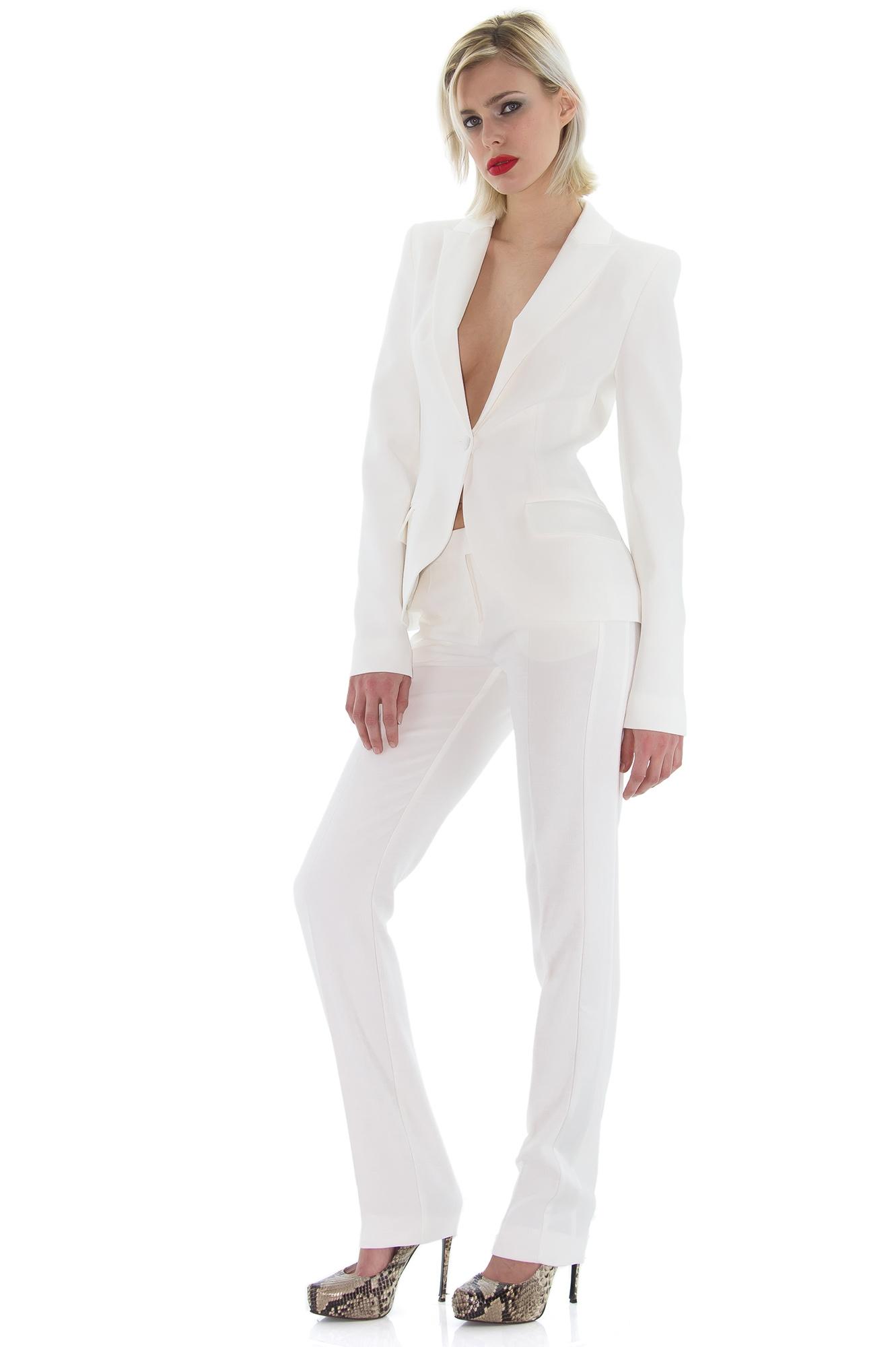 pantalon slim de smoking blanc place du mariage. Black Bedroom Furniture Sets. Home Design Ideas