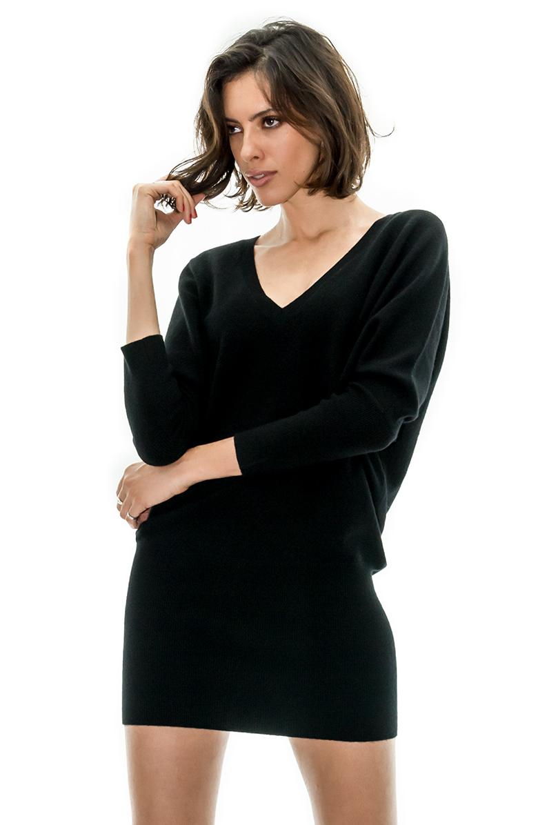 pull robe noir robe cachemire petite robe noire stefanie renoma stefanie renoma. Black Bedroom Furniture Sets. Home Design Ideas