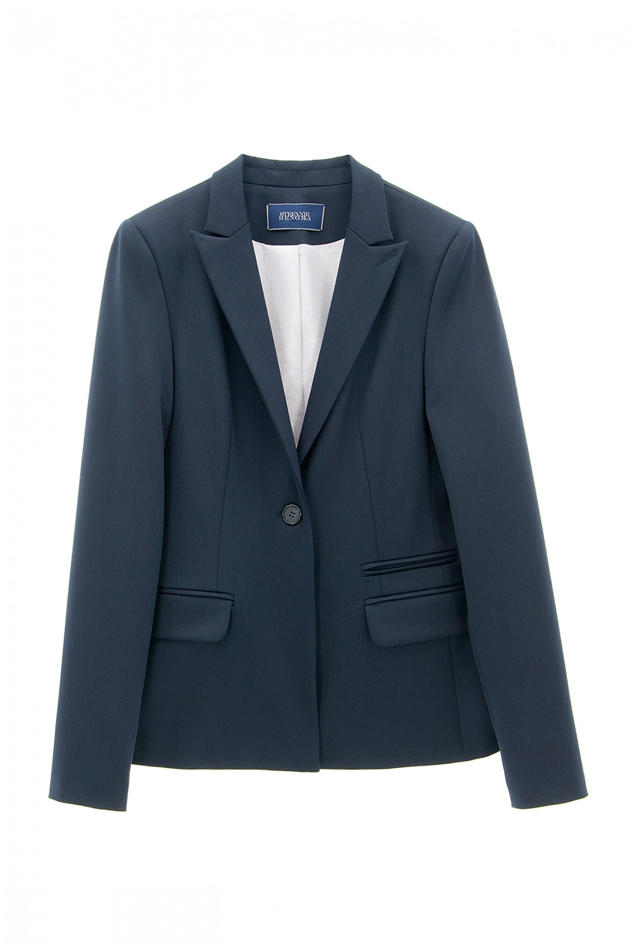blazer femme veste femme bleu marine stefanie stefanie renoma. Black Bedroom Furniture Sets. Home Design Ideas