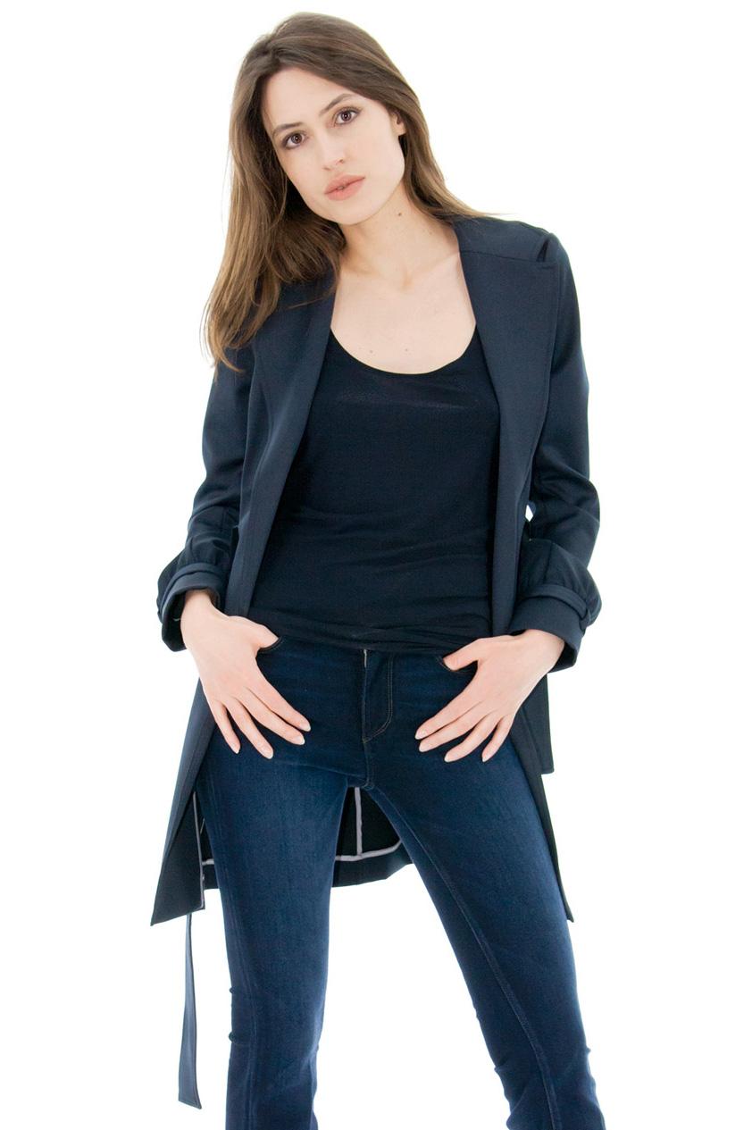 trench femme bleu manteau femme bleu marine trench coat stefanie stefanie renoma. Black Bedroom Furniture Sets. Home Design Ideas