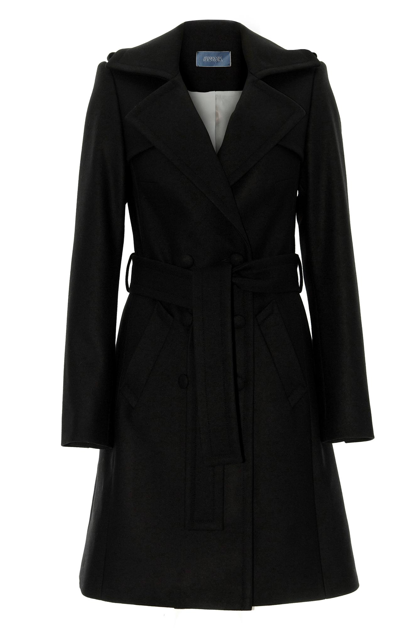 Manteau cachemire femme noir