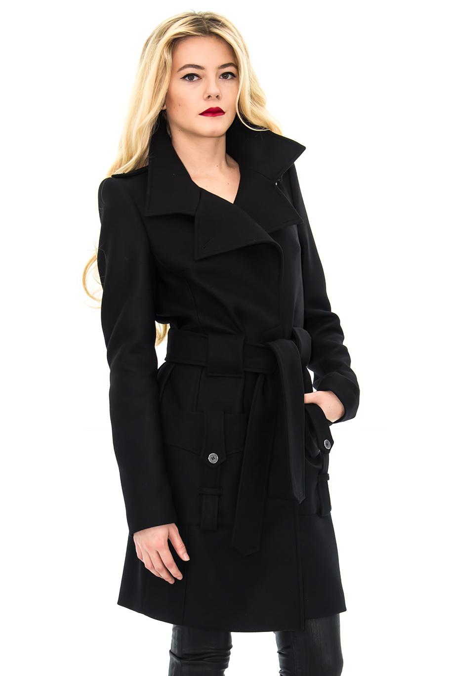 Manteau de cachemire noir
