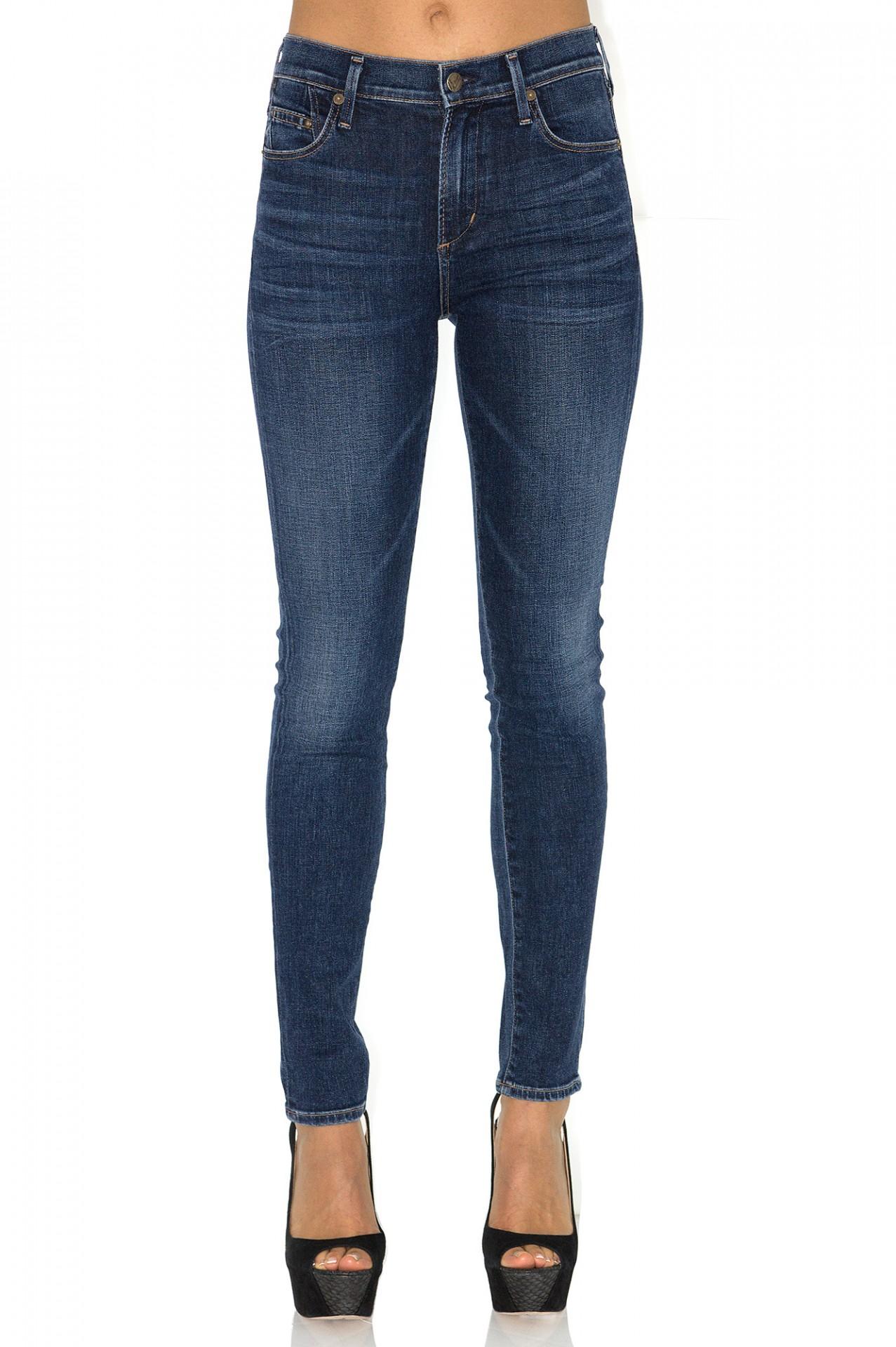jeans slim taille haute bleu citizens of humanity stefanie stefanie renoma. Black Bedroom Furniture Sets. Home Design Ideas