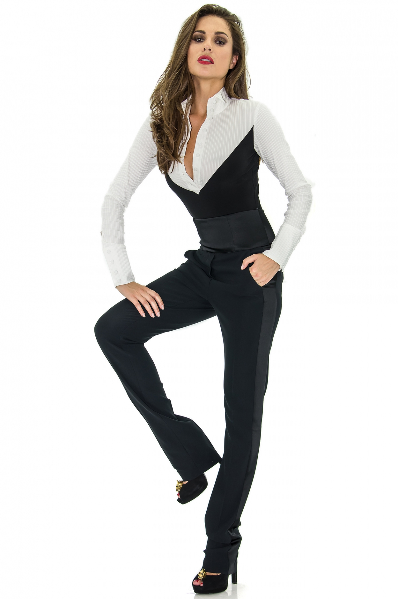 smoking pantalon taille haute alexandrina turcan. Black Bedroom Furniture Sets. Home Design Ideas