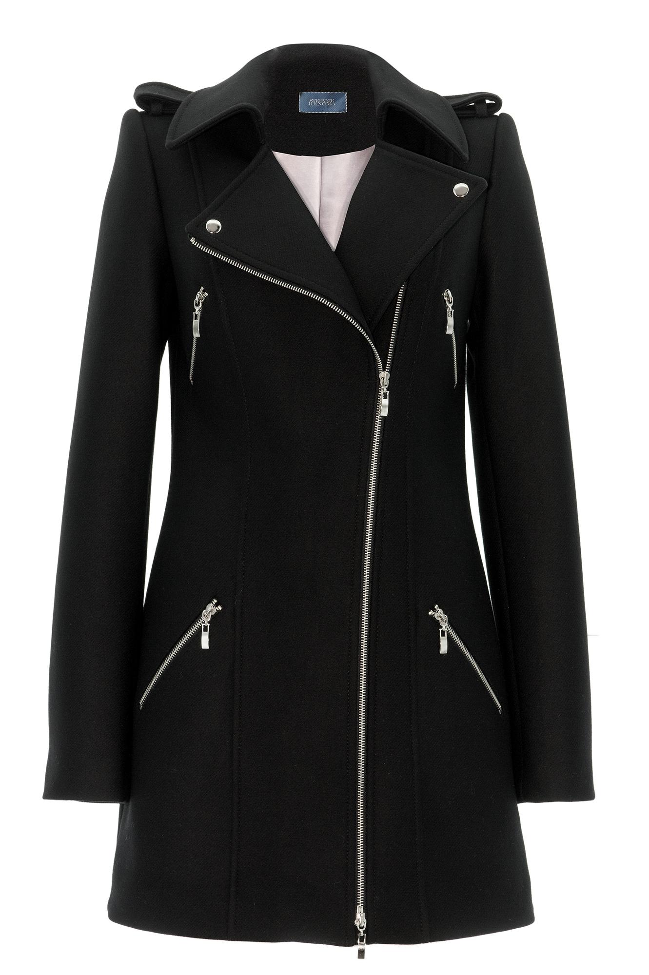 manteau zippe manteau femme manteau noire perfecto long. Black Bedroom Furniture Sets. Home Design Ideas
