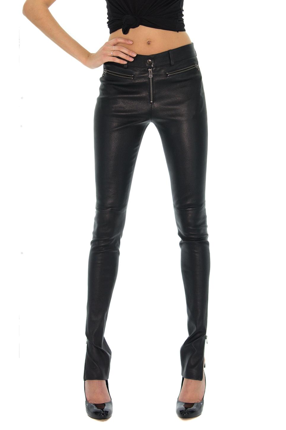 pantalon slim cuir femme jusqu 88 soldes premi re d marque. Black Bedroom Furniture Sets. Home Design Ideas
