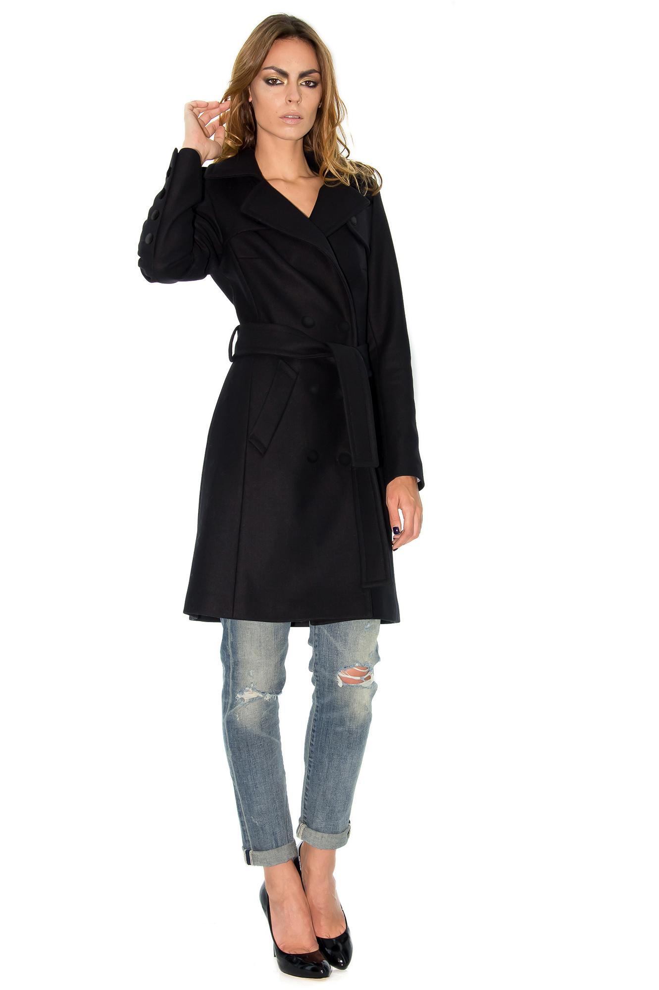 manteau cachemire manteau noir manteau mi long manteau femme alexandrina turcan stefanie. Black Bedroom Furniture Sets. Home Design Ideas