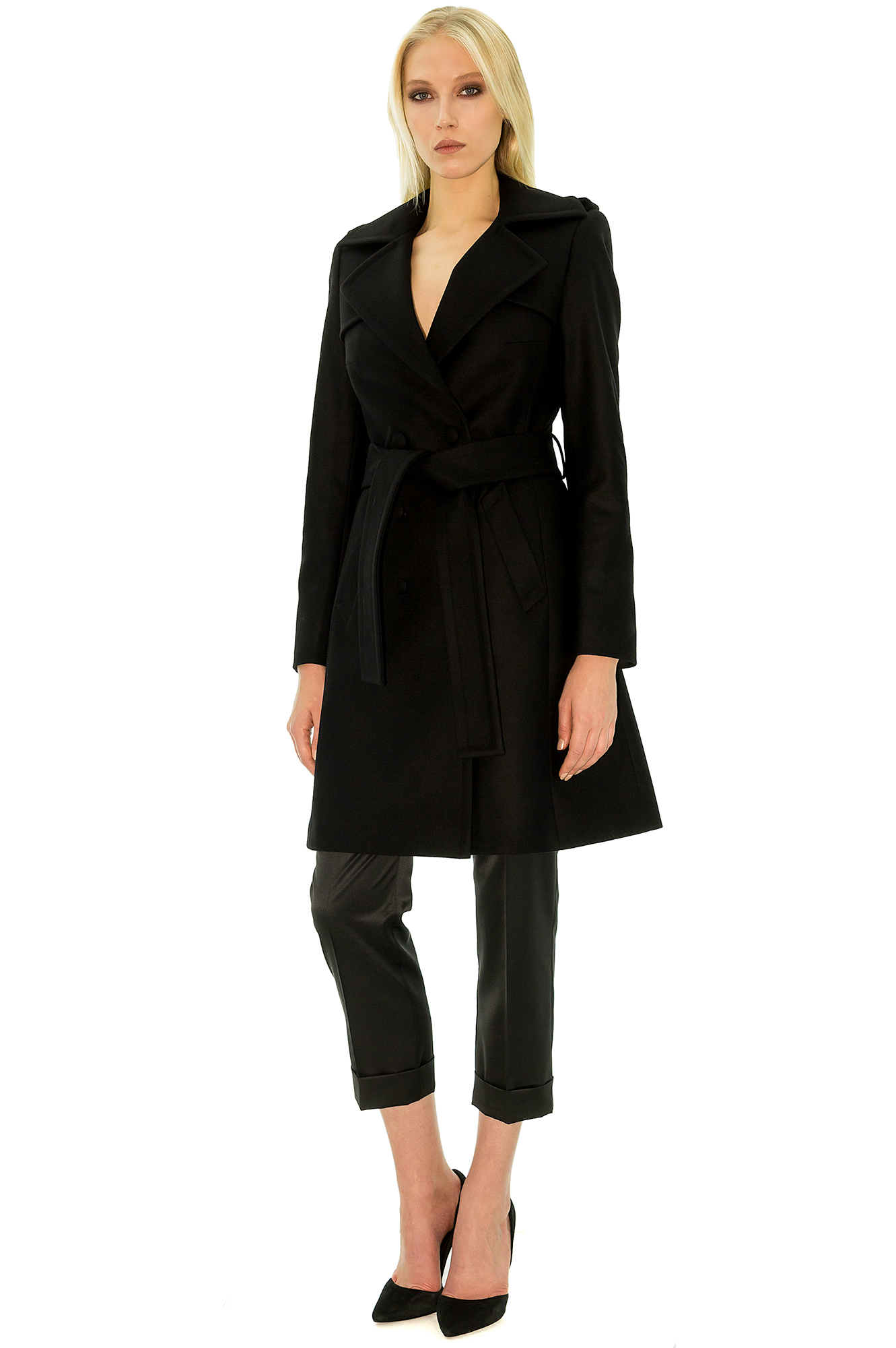 manteau femme mi long noir. Black Bedroom Furniture Sets. Home Design Ideas