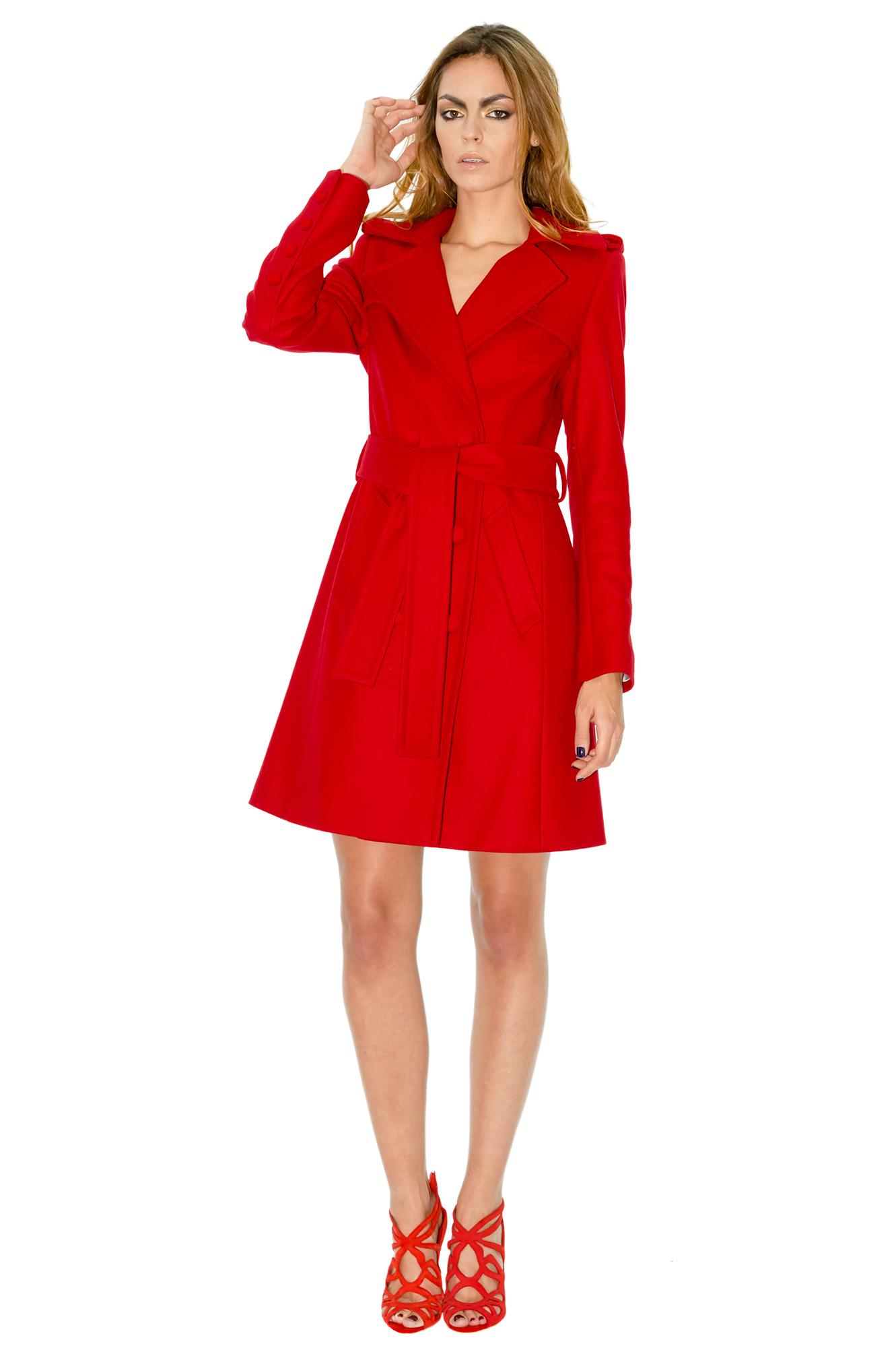 manteau cachemire manteau rouge manteau mi long manteau. Black Bedroom Furniture Sets. Home Design Ideas