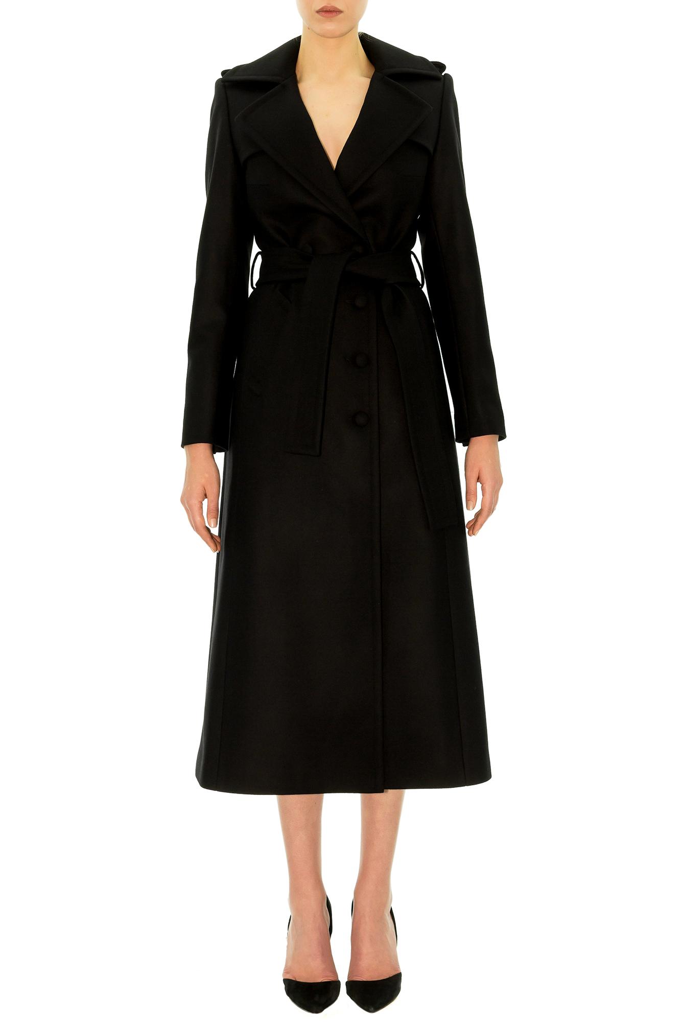 manteau cachemire manteau noir manteau long manteau femme alexandrina turcan stefanie renoma. Black Bedroom Furniture Sets. Home Design Ideas