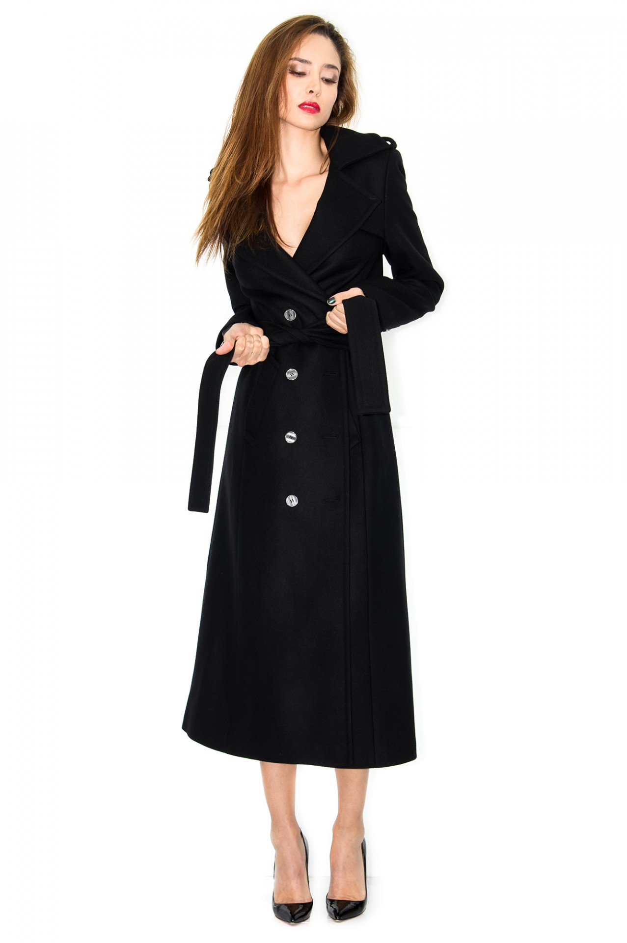 manteau cachemire manteau noir manteau long manteau femme stefanie renoma. Black Bedroom Furniture Sets. Home Design Ideas