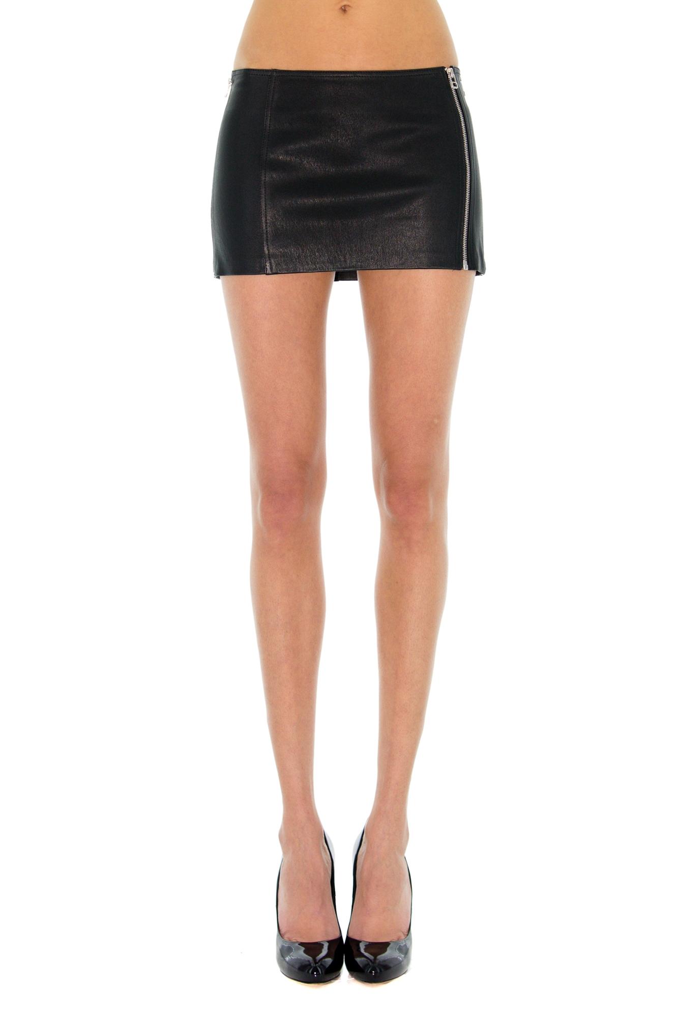 mini jupe en cuir mini cuir stretch katarina katancevic stefanie renoma. Black Bedroom Furniture Sets. Home Design Ideas