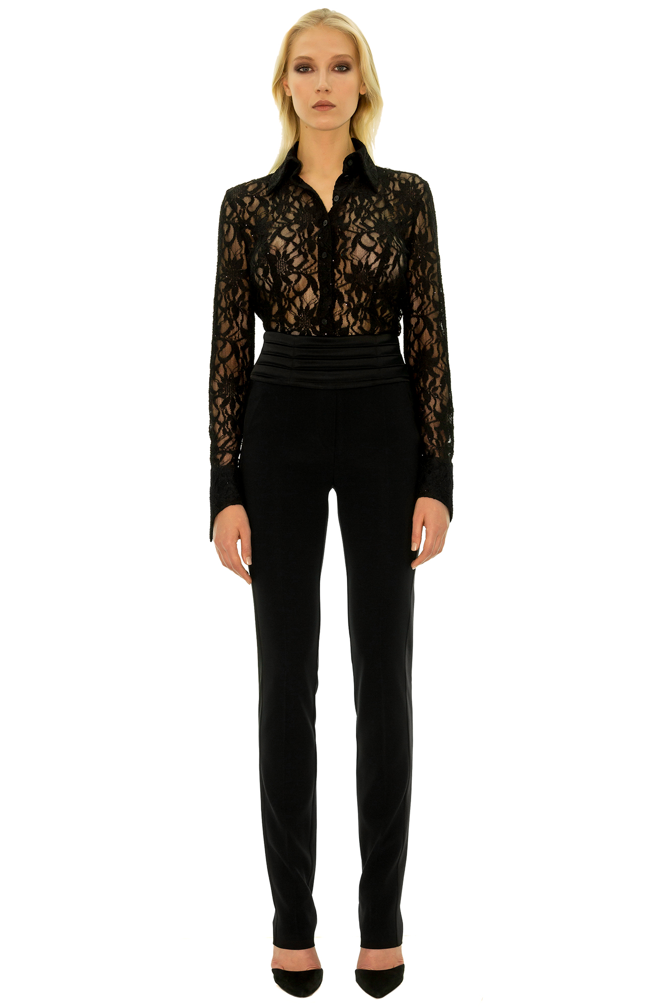 pantalon femme taille haute chic pantalon taille haute. Black Bedroom Furniture Sets. Home Design Ideas