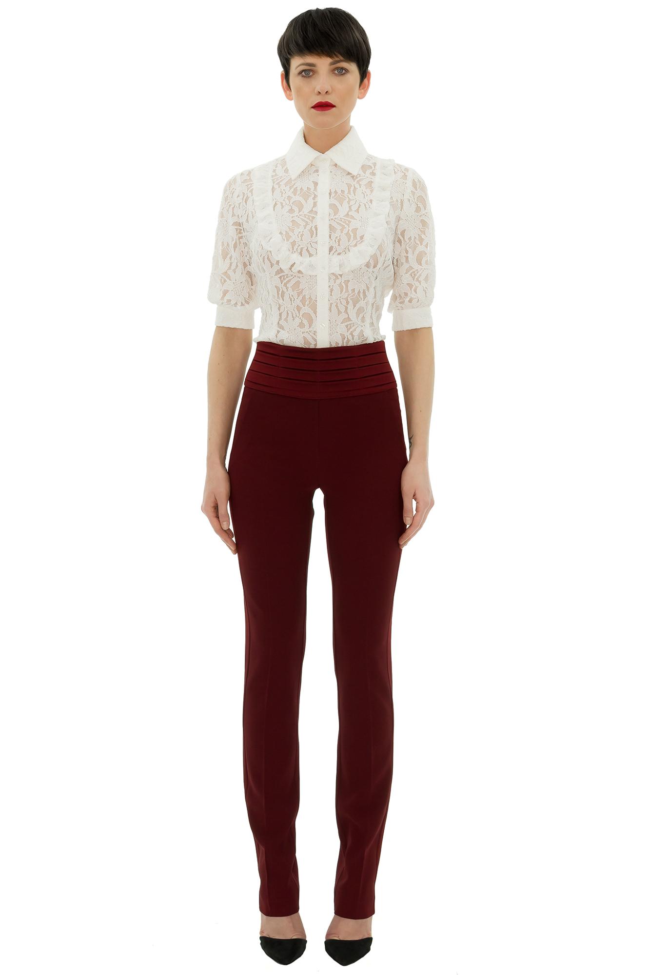 Bien-aimé smoking femme, pantalon taille haute, smoking rouge, Tanya Chubko  VO02
