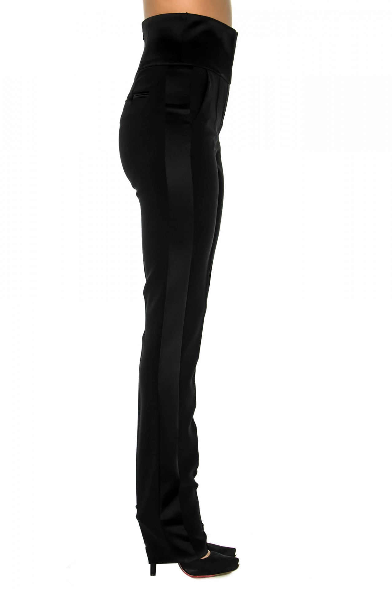smoking pantalon taille haute stefanie stefanie renoma. Black Bedroom Furniture Sets. Home Design Ideas