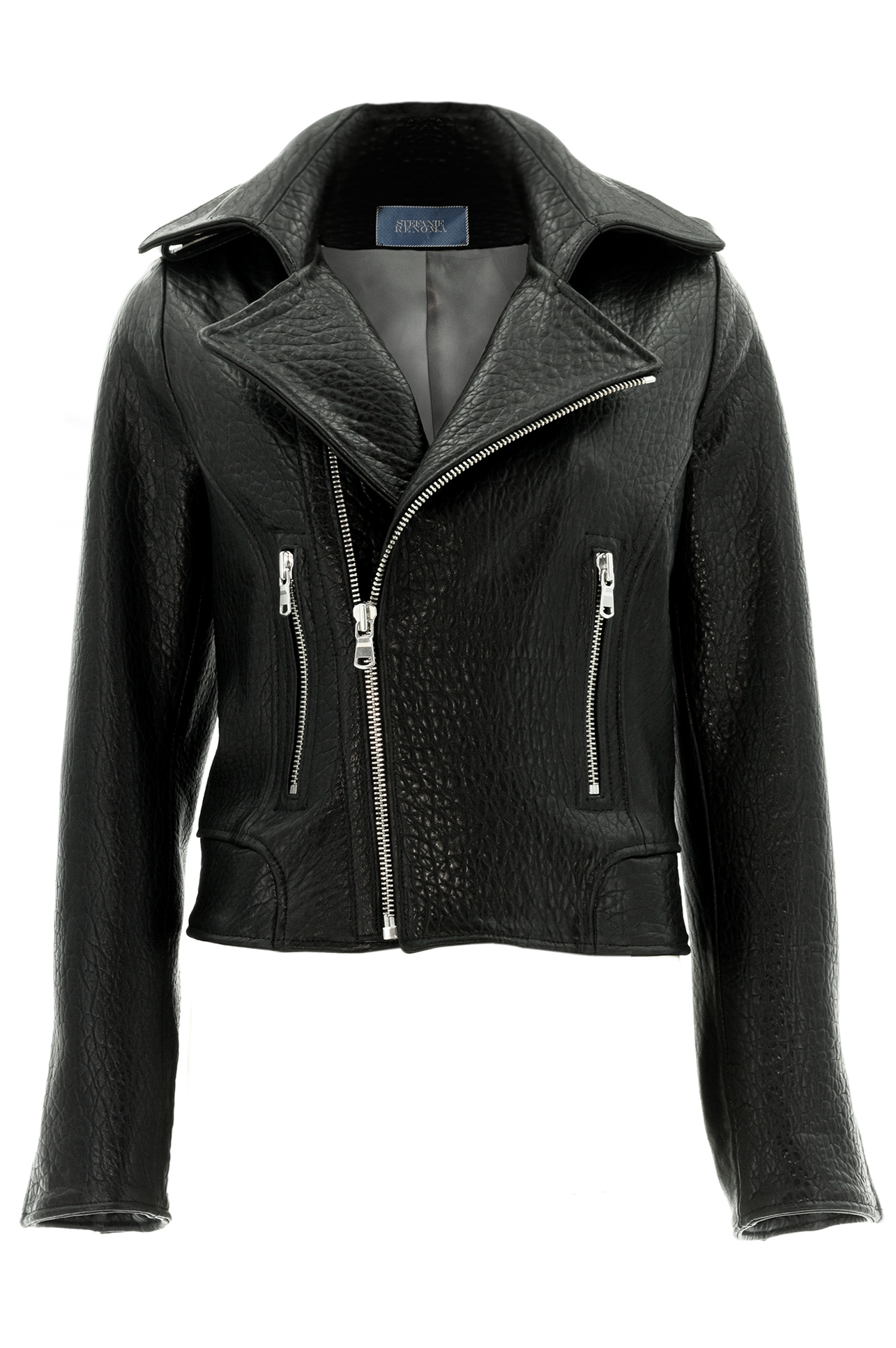 biker jacket perfecto jacket in black leather woman stefanie renoma. Black Bedroom Furniture Sets. Home Design Ideas