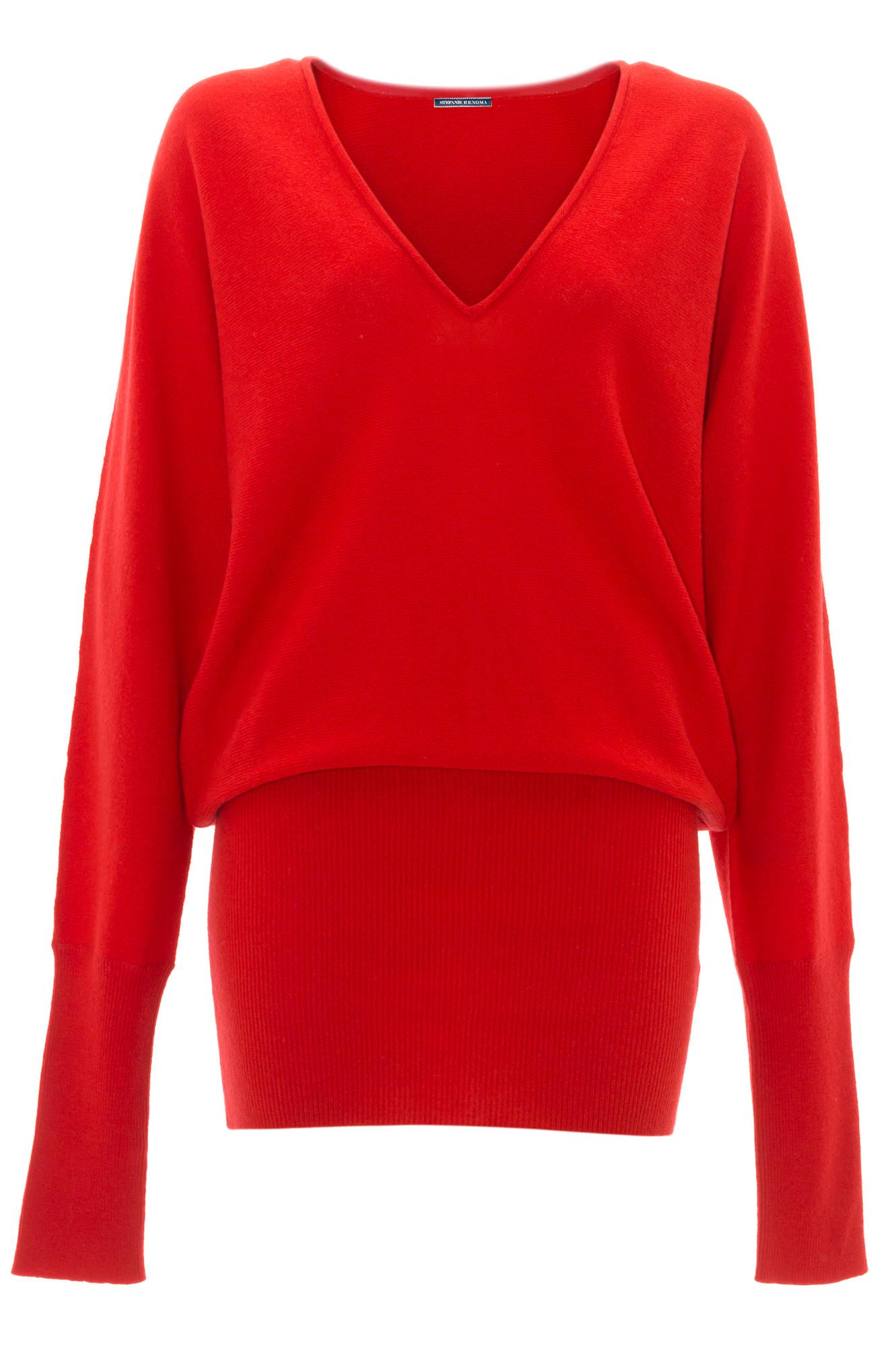 pull robe en cachemire rouge stefanie renoma. Black Bedroom Furniture Sets. Home Design Ideas