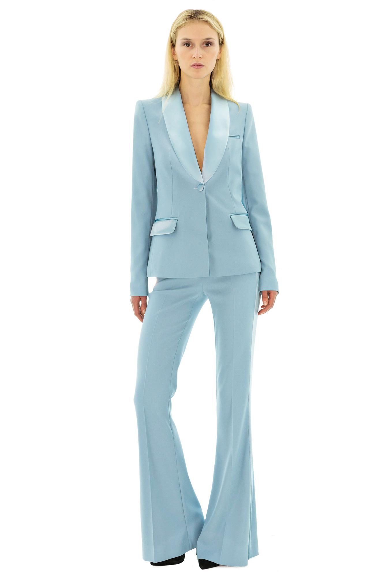 pantalon de smoking bleu ciel smoking de couleur smoking bleu stefanie renoma. Black Bedroom Furniture Sets. Home Design Ideas