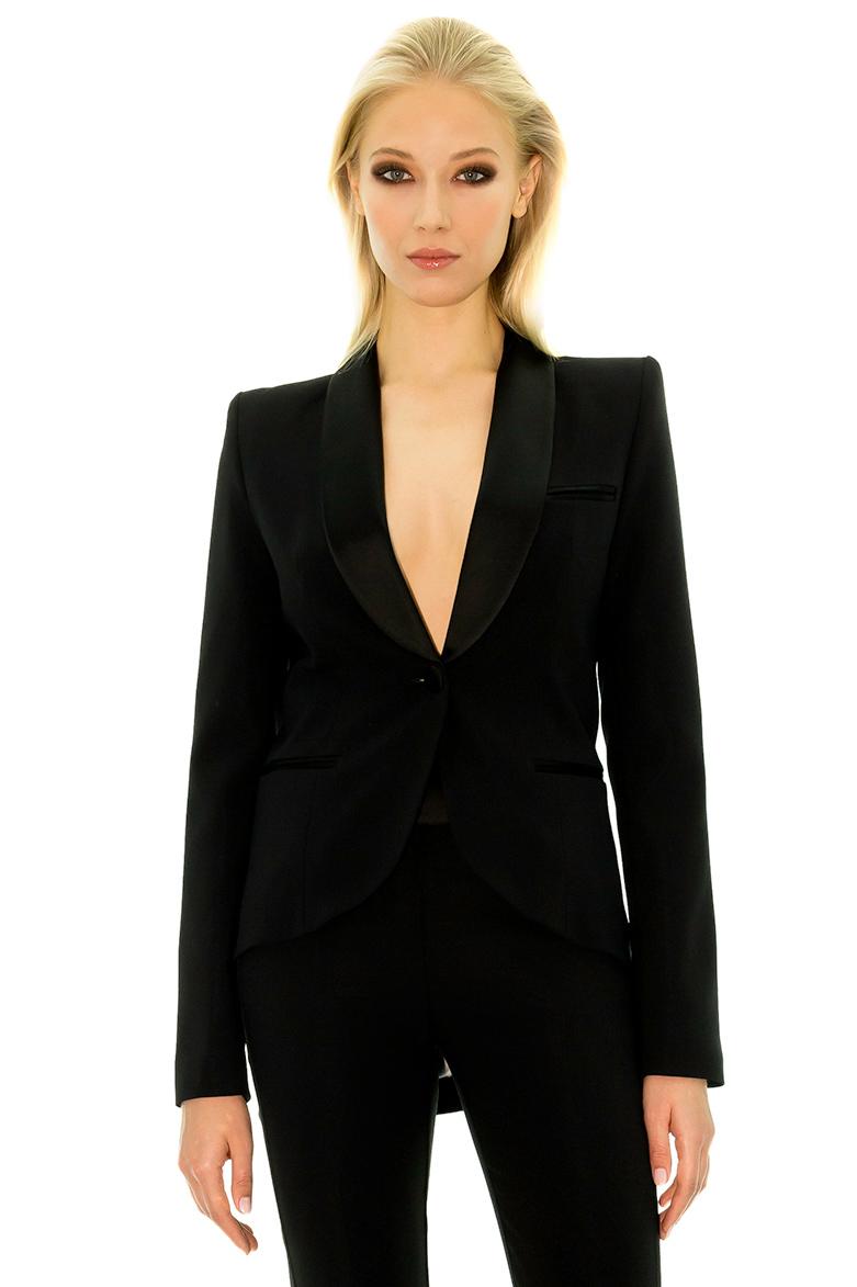 Veste de smoking femme grande taille