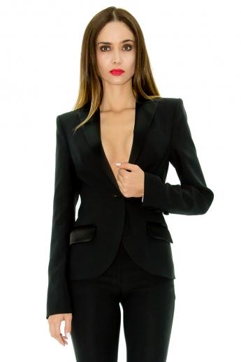 veste de smoking pour femme veste queue de pie stefanie renoma. Black Bedroom Furniture Sets. Home Design Ideas