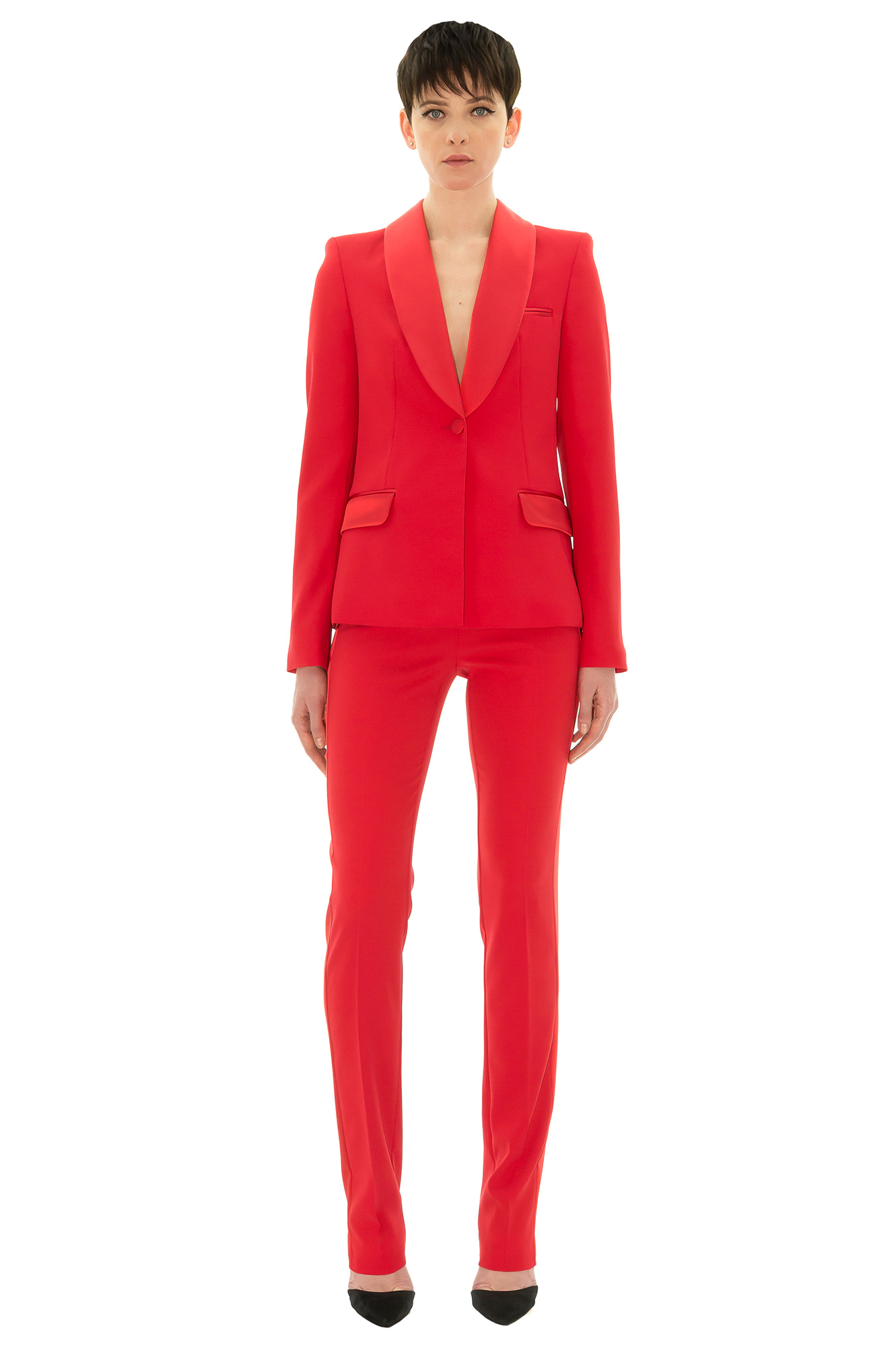 pantalon de smoking pantalon femme smoking rouge stefanie renoma. Black Bedroom Furniture Sets. Home Design Ideas