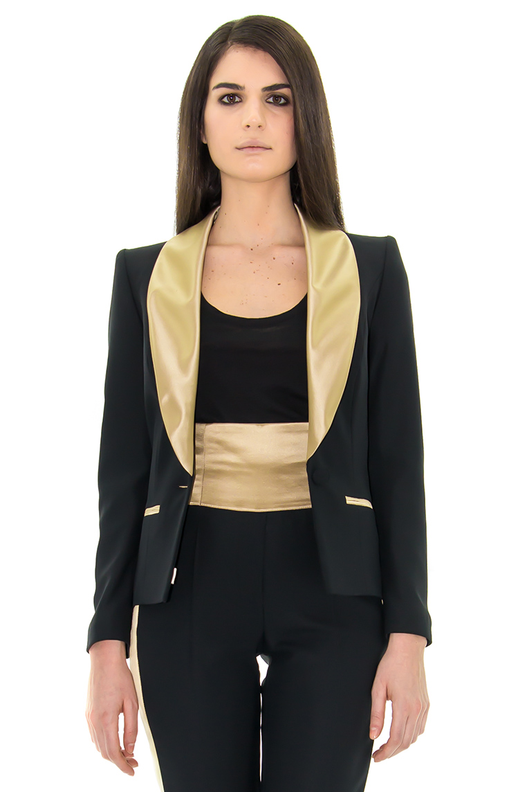 veste smoking femme veste dor veste col chale stefanie renoma stefanie renoma. Black Bedroom Furniture Sets. Home Design Ideas