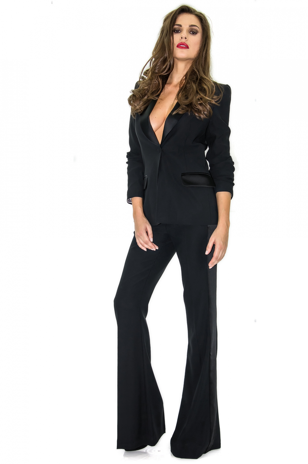 pantalon de smoking femme pantalon habill stefanie. Black Bedroom Furniture Sets. Home Design Ideas