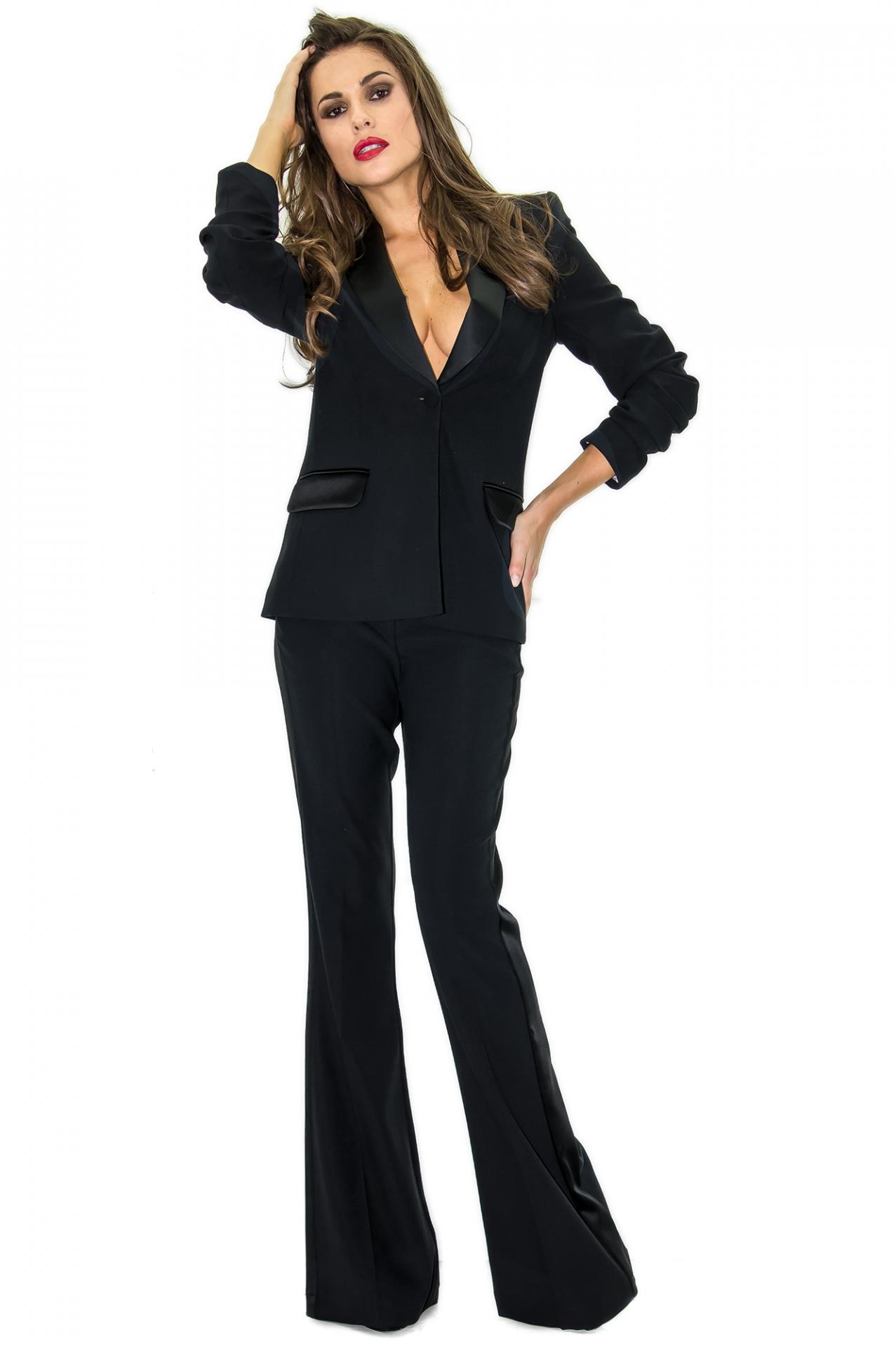 pantalon de smoking femme pantalon habill stefanie renoma stefanie renoma. Black Bedroom Furniture Sets. Home Design Ideas