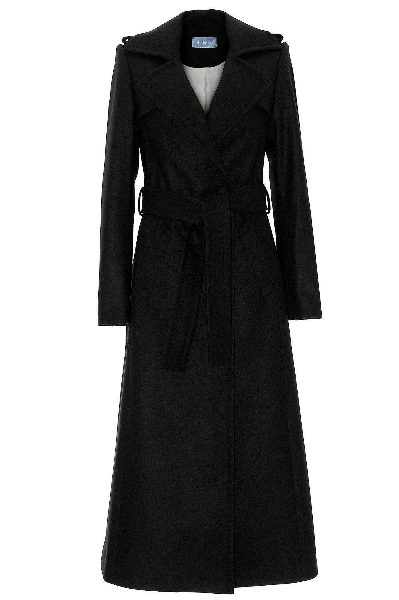 manteau cachemire manteau noir manteau long manteau