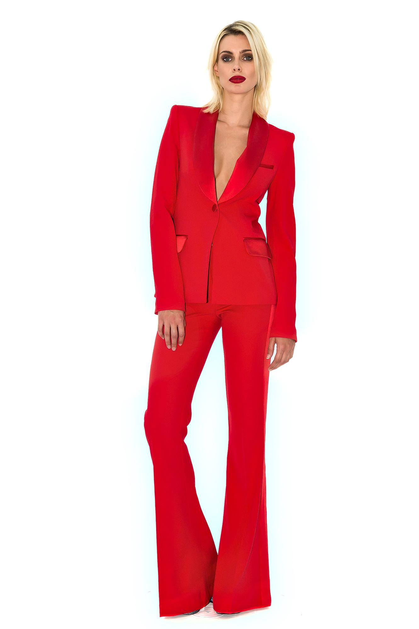 pantalon de smoking femme pantalon habill smoking rouge stefanie renoma. Black Bedroom Furniture Sets. Home Design Ideas
