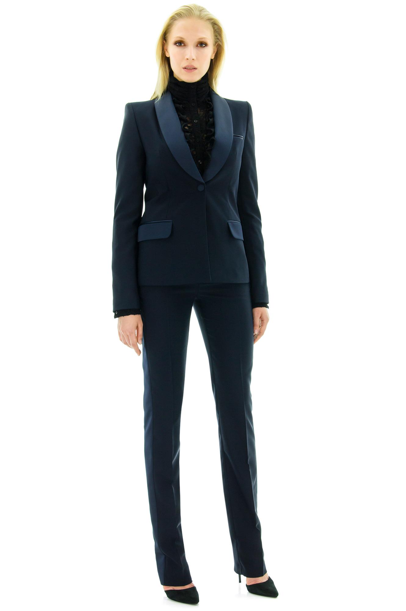 pantalon de smoking pantalon femme smoking bleu stefanie stefanie renoma. Black Bedroom Furniture Sets. Home Design Ideas