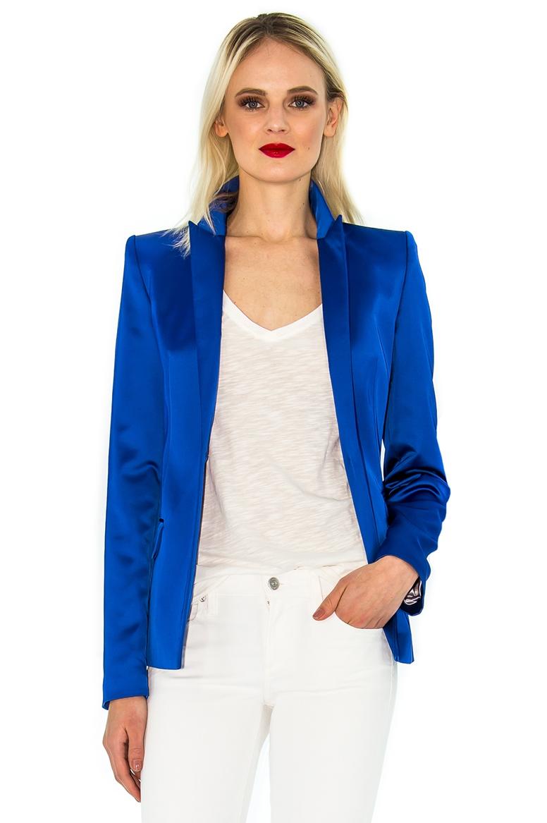 Veste de tailleur femme bleu roi