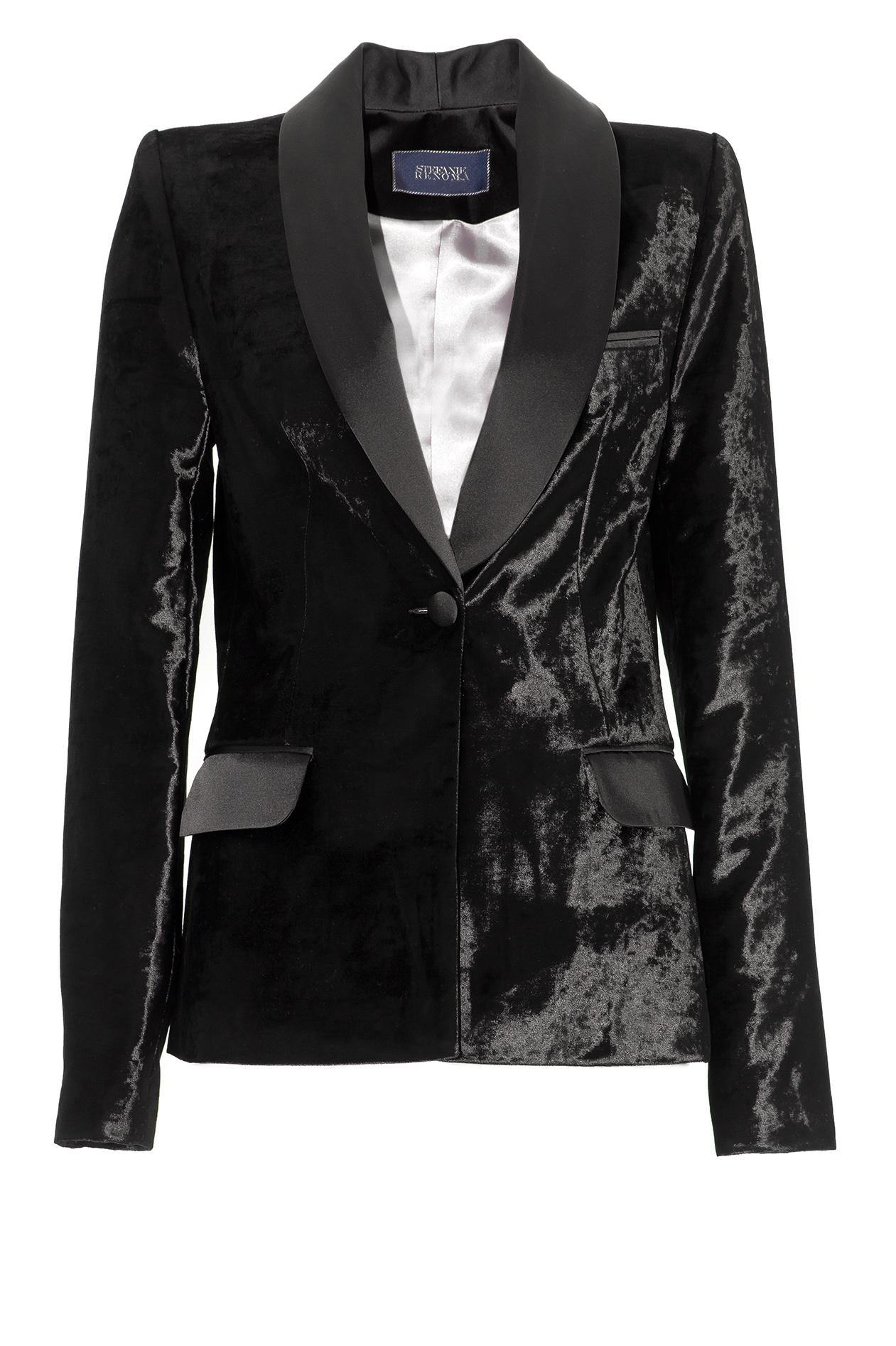 blazer femme velours noir. Black Bedroom Furniture Sets. Home Design Ideas
